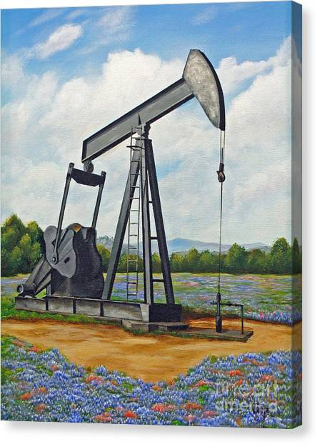 Texas Oil Well Canvas Print