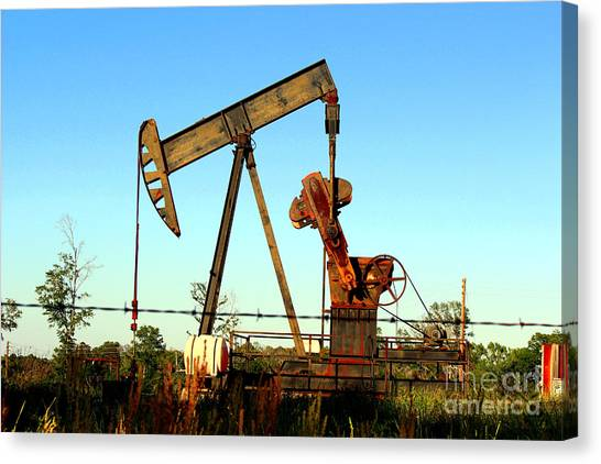 Texas Pumping Unit Canvas Print