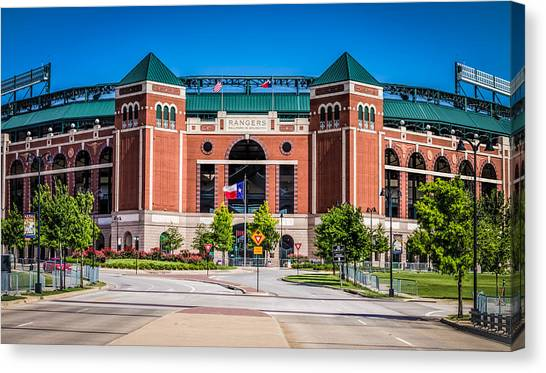 Canvas Print featuring the photograph Globe Life Park In Arlington by Robert Bellomy