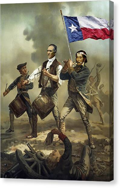 Texas Rangers Canvas Print - Texas Spirit by Daniel Hagerman