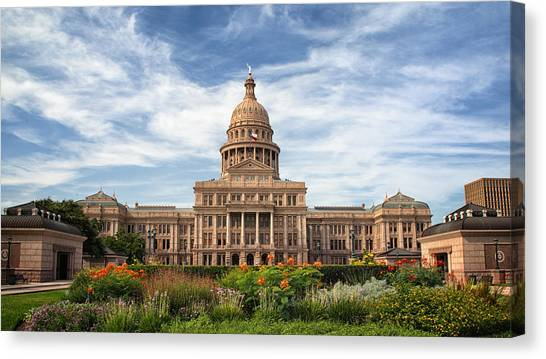Austin Texas Canvas Print - Texas State Capitol II by Joan Carroll