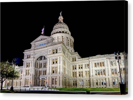 Texas State Capitol Canvas Print