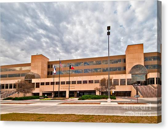 Canvas Print featuring the photograph Texas Tech Health Science Center by Mae Wertz