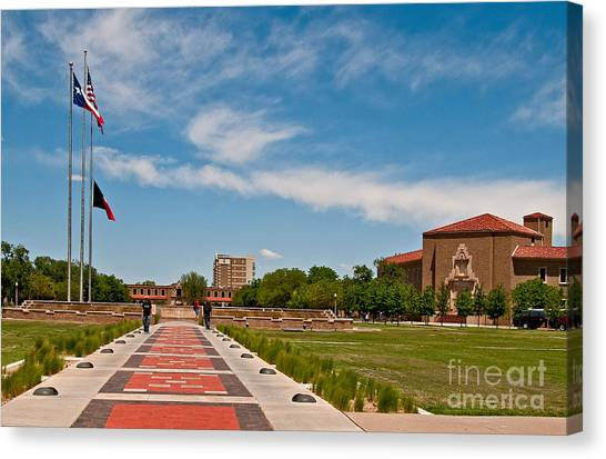 Texas Tech University Canvas Print - Texas Tech University Arts And Sciences And Graduate School by Mae Wertz