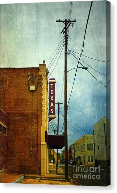 Palestinian Canvas Print - Texas Theater by Elena Nosyreva