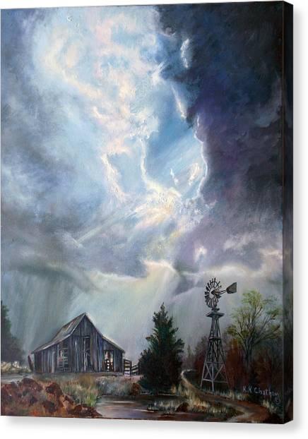 Texas Thunderstorm Canvas Print