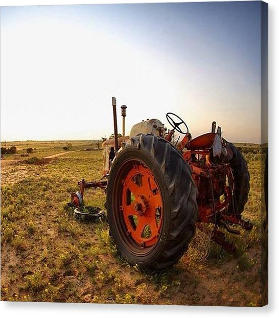 Tractors Canvas Print - #texas #tractor #sunset by Cody Haskell