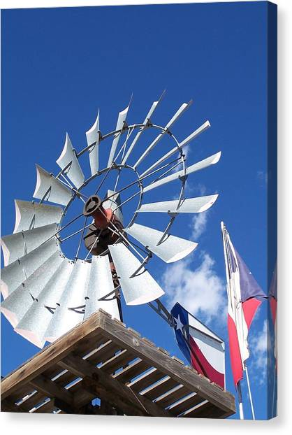 Texas Windmill Canvas Print