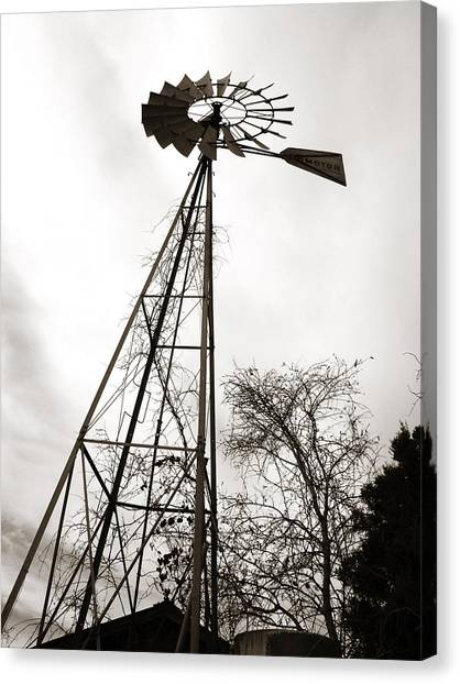Texas Windmill Canvas Print