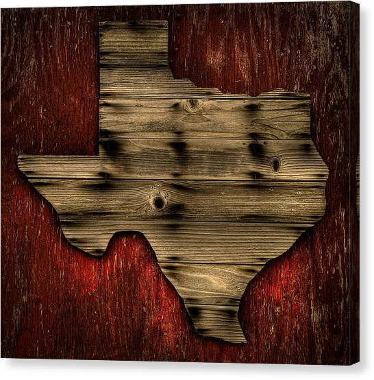 Texas Wood Canvas Print