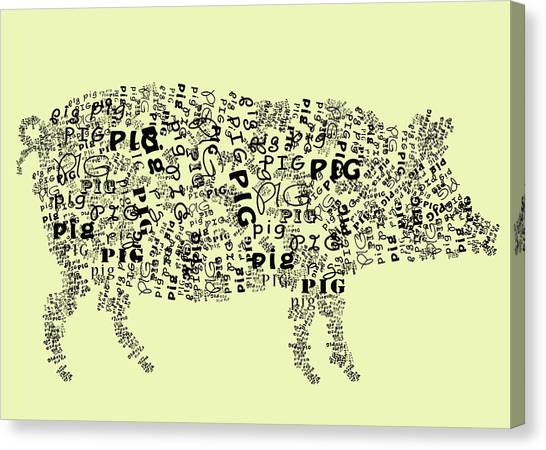 Text Pig Canvas Print