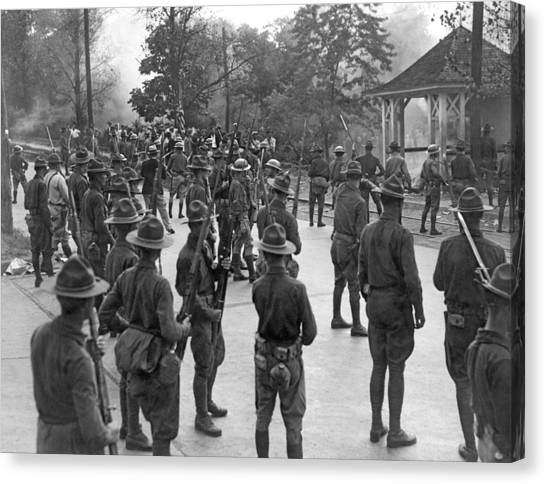 National Guard Canvas Print - Textile Workers Strike by Underwood Archives