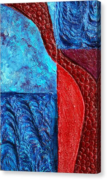 Texture And Color Bas-relief Sculpture #4 Canvas Print