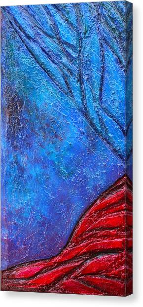 Texture And Color Bas-relief Sculpture #5 Canvas Print