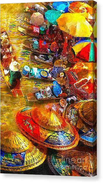 Thai Market Day Canvas Print