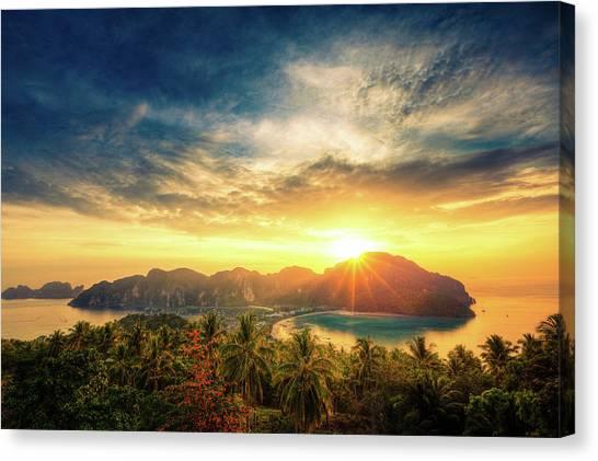 Phi Phi Island Canvas Print - Thai Seascape by Lightkey