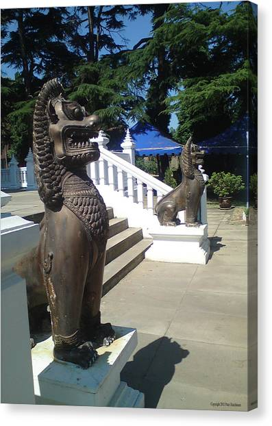 Thai Temple Steps Canvas Print