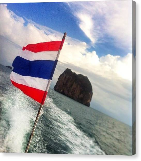 Law Enforcement Canvas Print - Thai Flag by Darren O' Dea