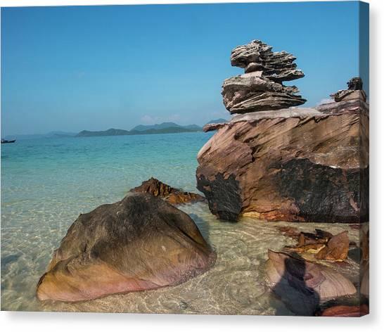 Phi Phi Island Canvas Print - Thailand, Phuket, Phi Phi Islands, Rock by Terry Eggers