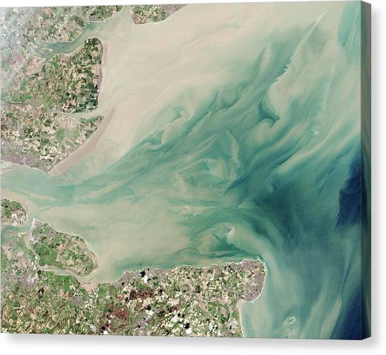Satellite Canvas Print - Thames Estuary by Nasa
