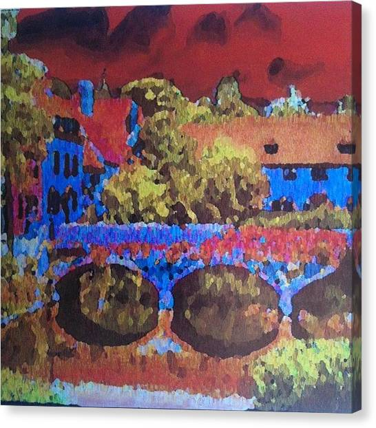 Fauvism Canvas Print - Thames Street In Abingdon by Stephen Lock