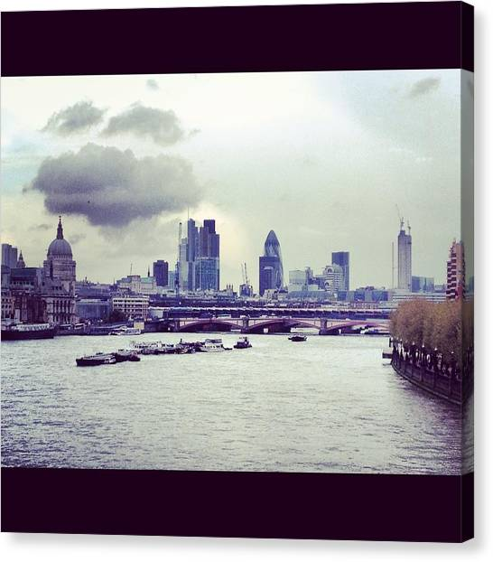 Thames View Canvas Print by Maeve O Connell
