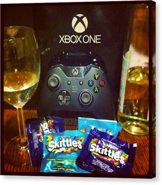 Xbox Canvas Print - Thank You Baby, I Love You! by April Ferocious