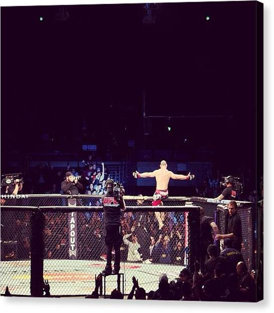 Ufc Canvas Print - Thank You For The Great Fight ! History by Alemotion Moreira