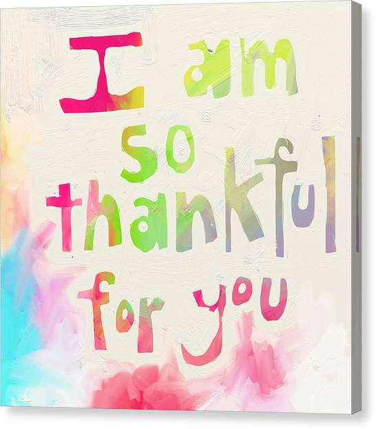 Holidays Canvas Print - Thankful by Cathy Walters