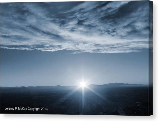 Canvas Print featuring the photograph Thanksgiving Sunrise Mount Soledad  by Jeremy McKay