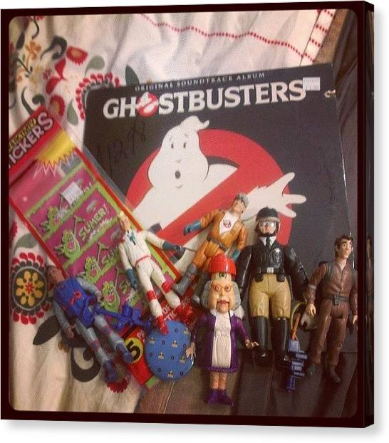 Ghostbusters Canvas Print - Thanks @bricabracrecords For All This by Jamie Curran