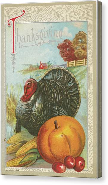 Thanksgiving Canvas Print - Thanksgiving Postcards I by Wild Apple Portfolio