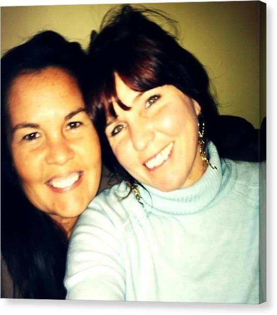 Thanksgiving Canvas Print - #thanksgiving #sisters #love #family by Lori Lynn Gager