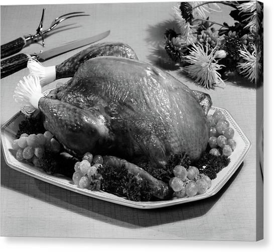Turkey Dinner Canvas Print - Thanksgiving Turkey Dinner by Vintage Images