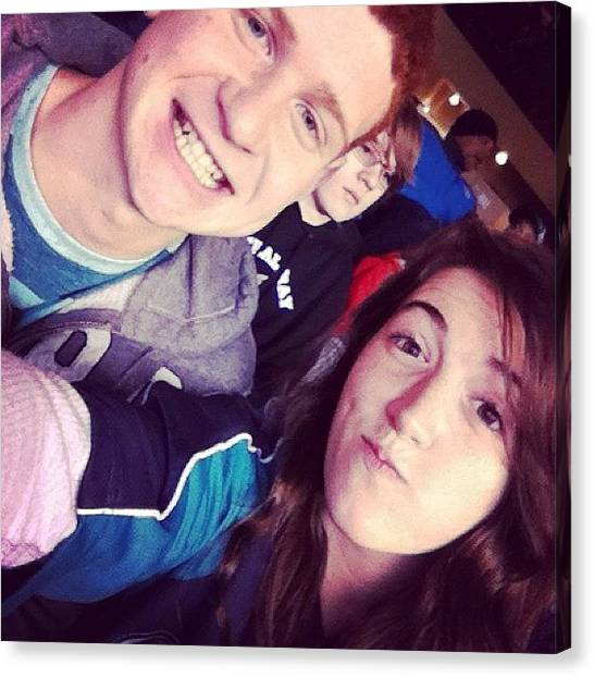 Seattle Mariners Canvas Print - That Dude Photo Bombed Us And He by Erika Lynn