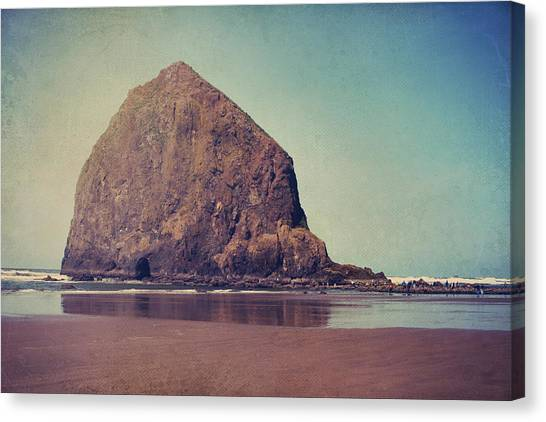 Haystack Rock Canvas Print - That Feeling In The Air by Laurie Search