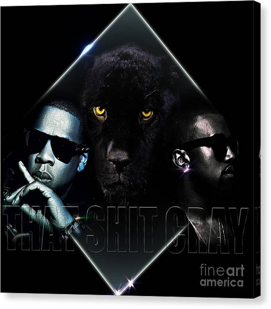 Jay Z Canvas Print - That Ish Cray by The DigArtisT