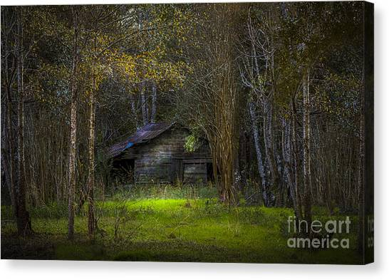 Horse Farms Canvas Print - That Old Barn by Marvin Spates