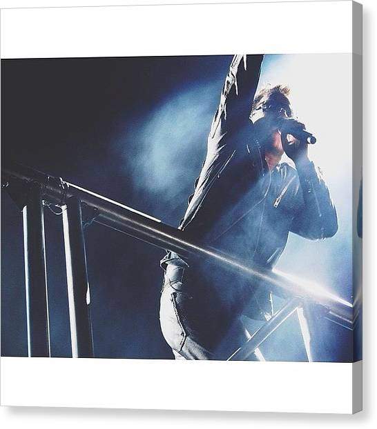 U2 Canvas Print - Bono by Sara Dye