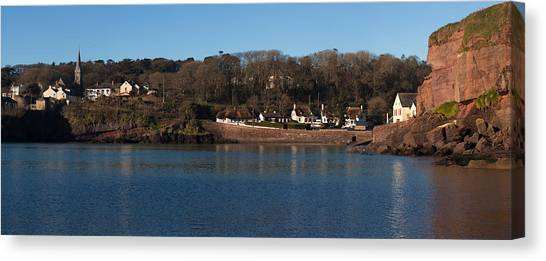 Waterford Canvas Print - Thatched Cottages In A Town, Dunmore by Panoramic Images