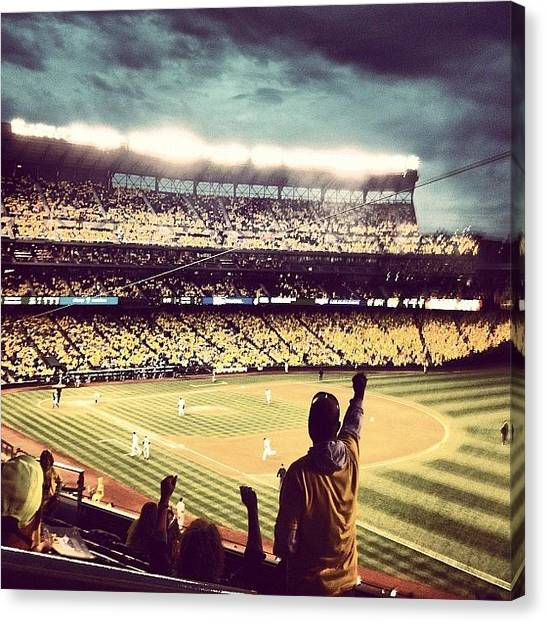 Seattle Mariners Canvas Print - That'd Be A Strike by Terrence Jeffrey Santos