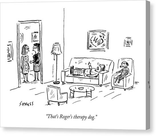 That's Roger's Therapy Dog Canvas Print