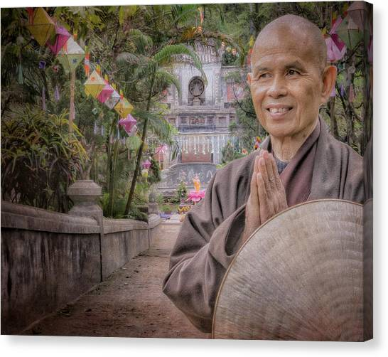 Nobel Canvas Print - Thay At Root Temple by Paul Davis