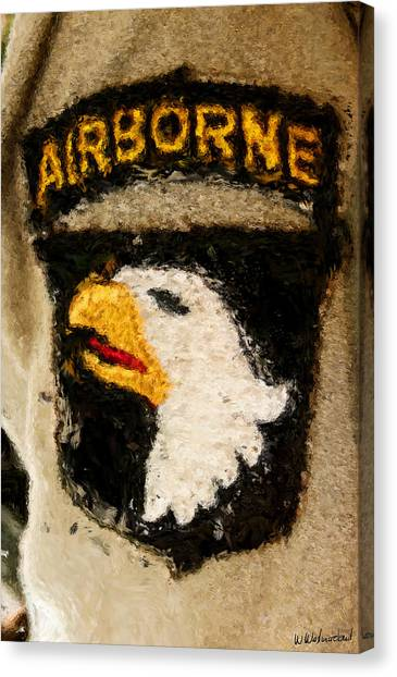 The 101st Airborne Emblem Painting Canvas Print