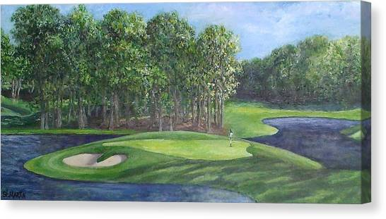 The 10th At Meadow Brook Golf Club Canvas Print by Annie St Martin