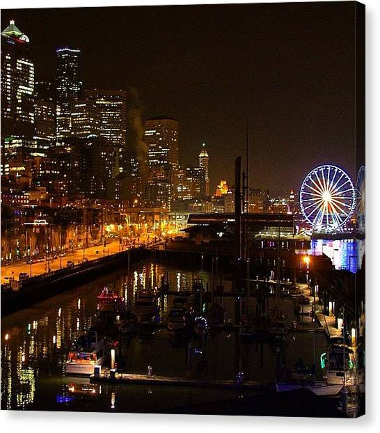 Seattle Seahawks Canvas Print - The 12th Man Is Sleepless Tonight In by Kelly Hasenoehrl