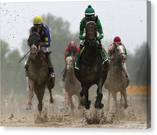 The 141st Running Of The Preakness Canvas Print by Rob Carr