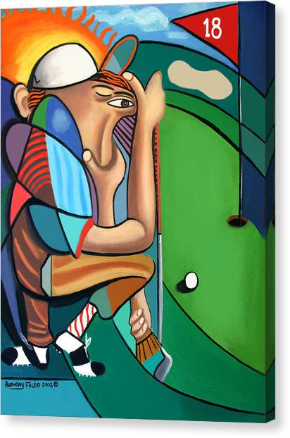 Hole In One Canvas Print - The 18th Hole by Anthony Falbo