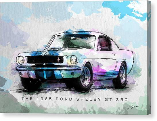 The 1965 Ford Shelby Gt 350  Canvas Print