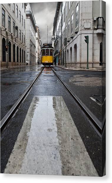 Light Rail Canvas Print - The 28 by Jorge Maia